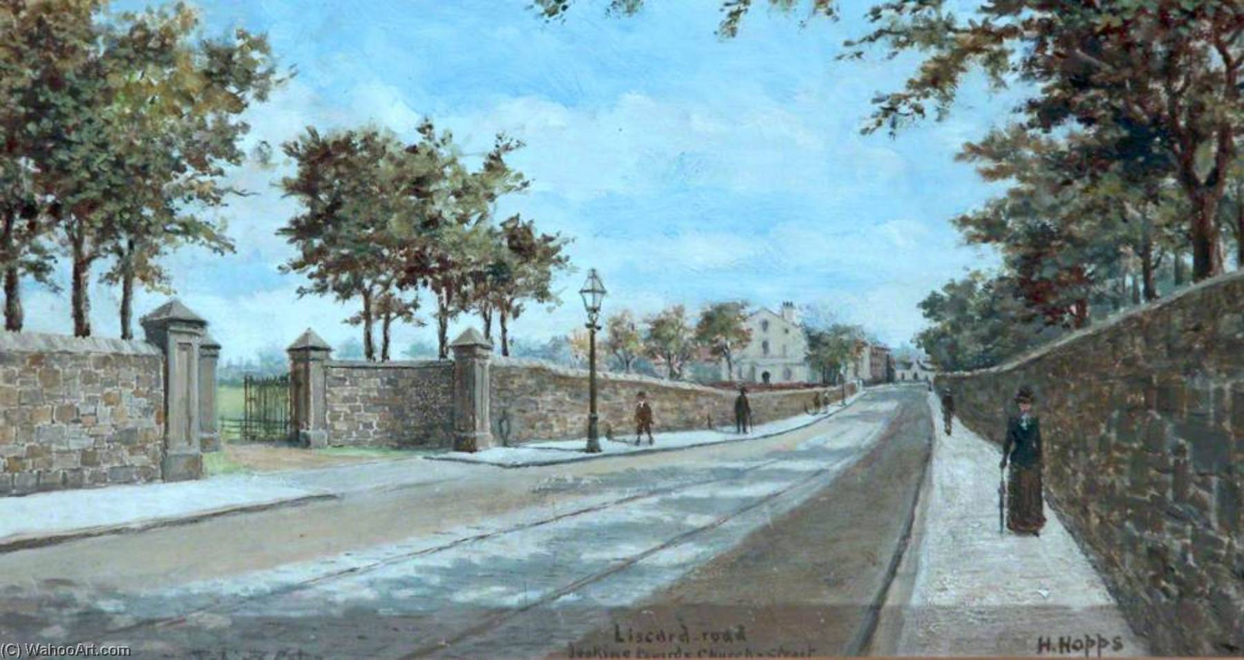 Liscard Road Looking towards Church Street, Wirral by Harold Hopps | Museum Quality Reproductions | WahooArt.com