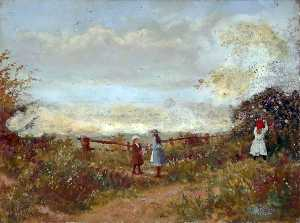 Harold Hopps - Wild Roses on the Wirral