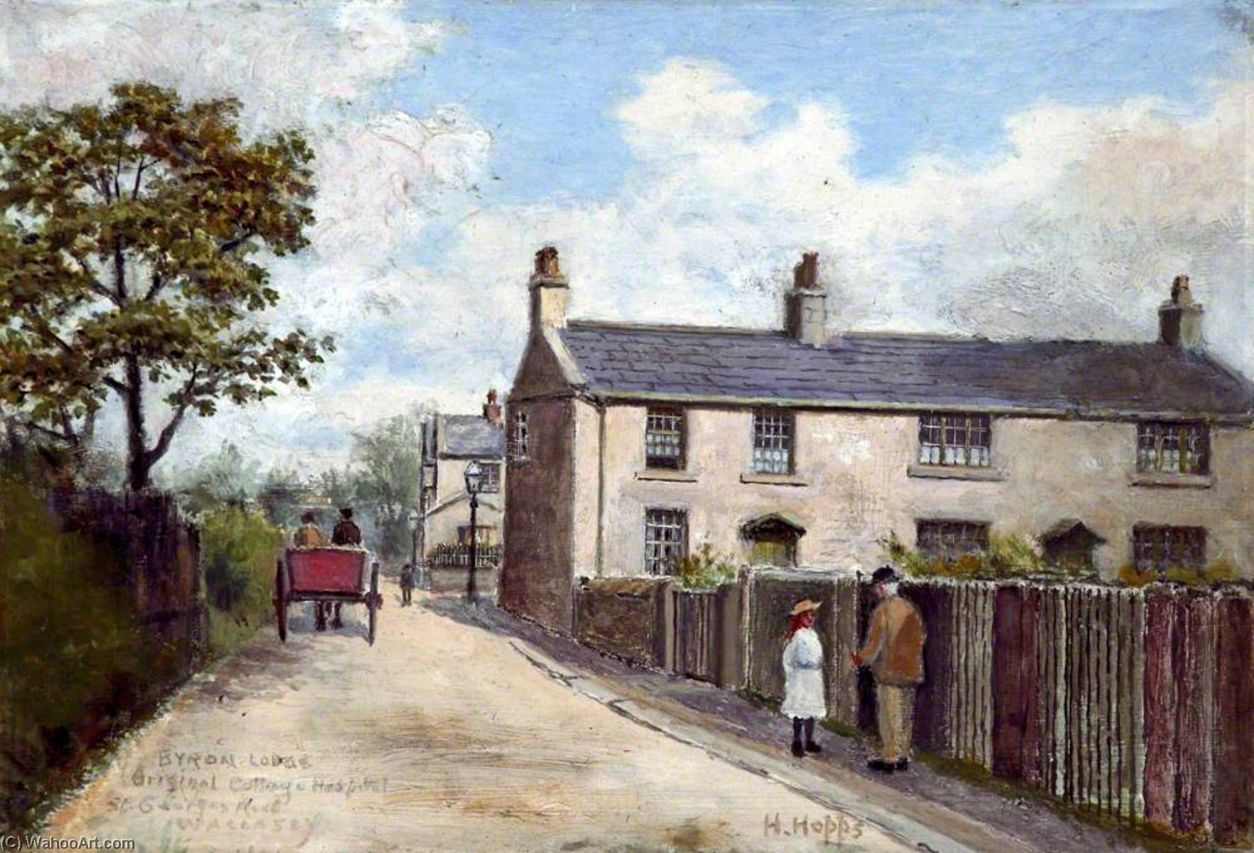 Byron Lodge, St George`s Road, Wallasey, Wirral by Harold Hopps | Art Reproduction | WahooArt.com