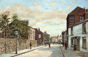 Harold Hopps - Wallasey Road from the Corner of St Alban's Road, Wallasey, Wirral