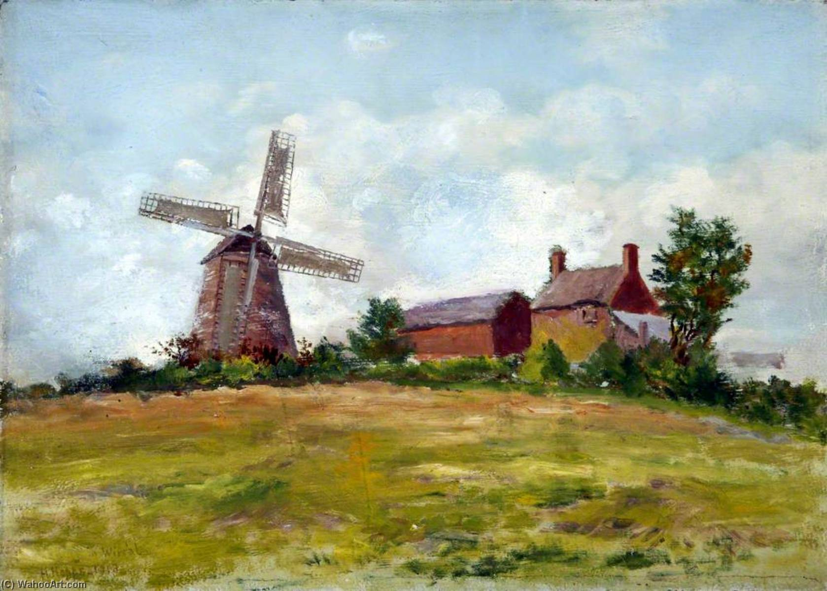 Gayton Mill, Wirral by Harold Hopps | Museum Quality Reproductions | WahooArt.com