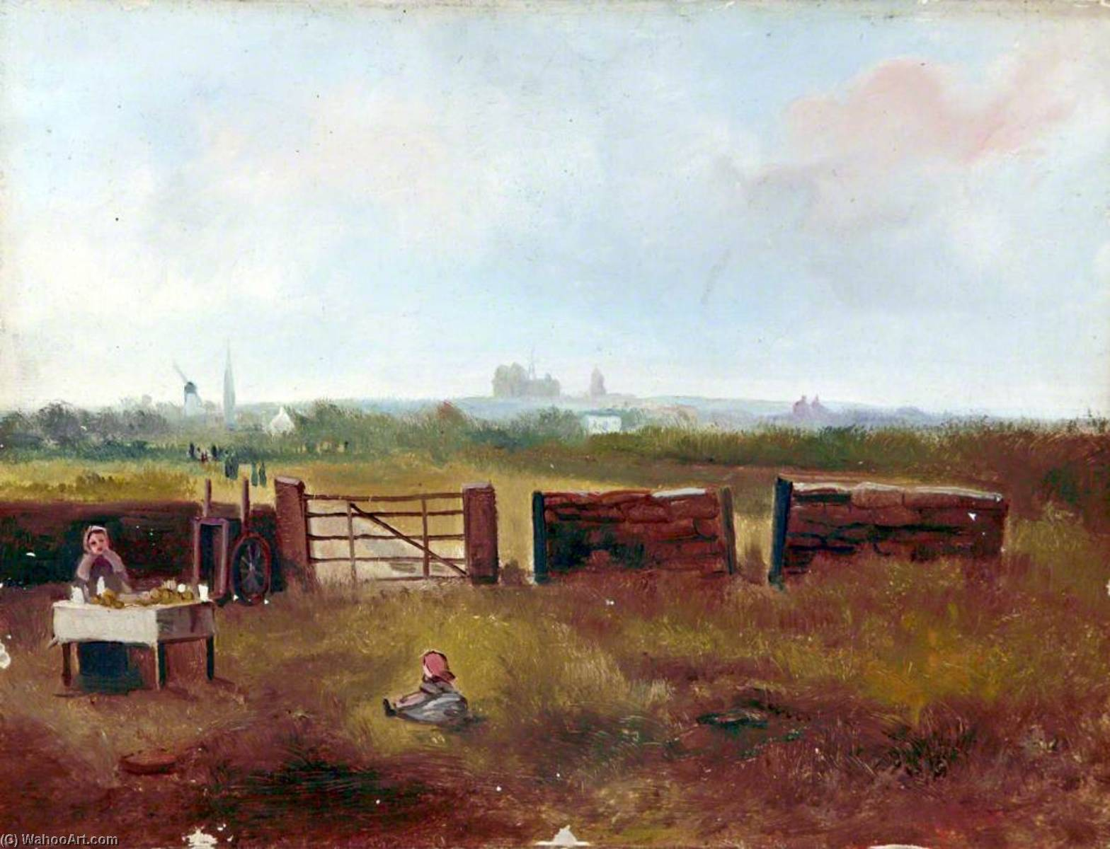 View from the End of Bidston Avenue, Wirral by Harold Hopps | Painting Copy | WahooArt.com