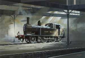 Norman Whitla - Great Northern Railway Locomotive No.90 in Adelaide Shed, Belfast