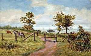 Harold Hopps - Old Footpath, Eastham Ferry to Magazines, Wirral