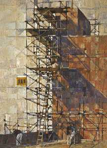 Peter Leonard Folkes - Scaffolding around a Tower