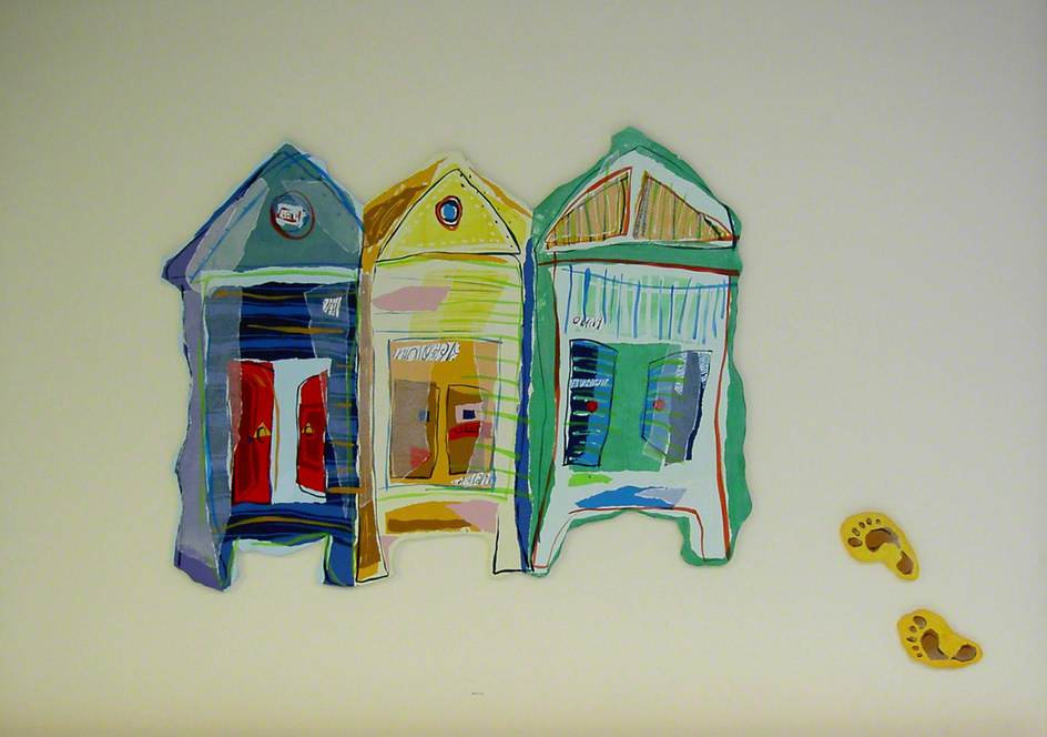 Order Oil Painting : Beach Huts, 2001 by Rachael Alexander | WahooArt.com