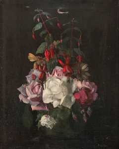 Robert Lillie - Roses and Fuchsias
