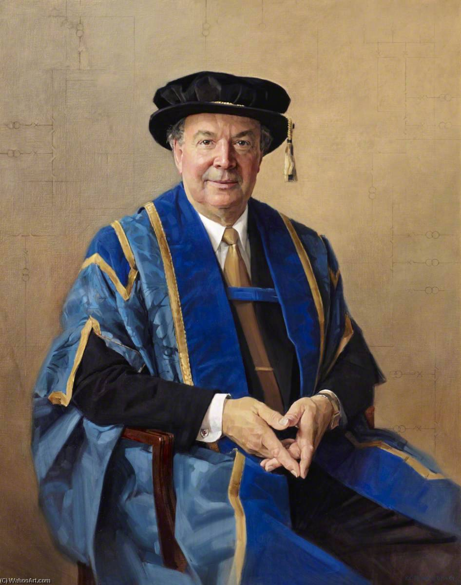 Professor Sterling, Vice Chancellor (1990–2001), Oil On Canvas by Keith Breeden