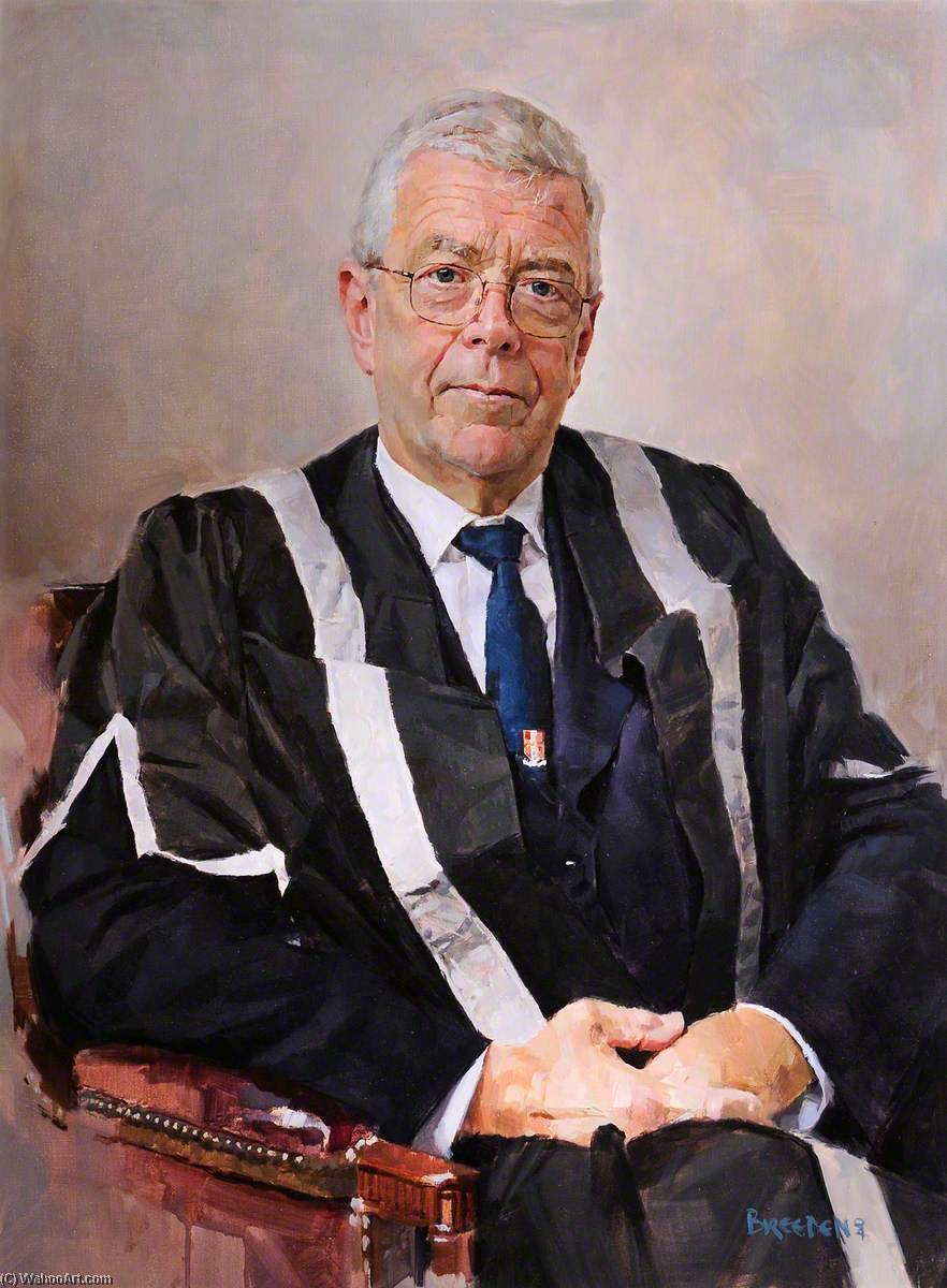Professor Roy Evans, Vice Chancellor (1995–2004), Oil On Canvas by Keith Breeden