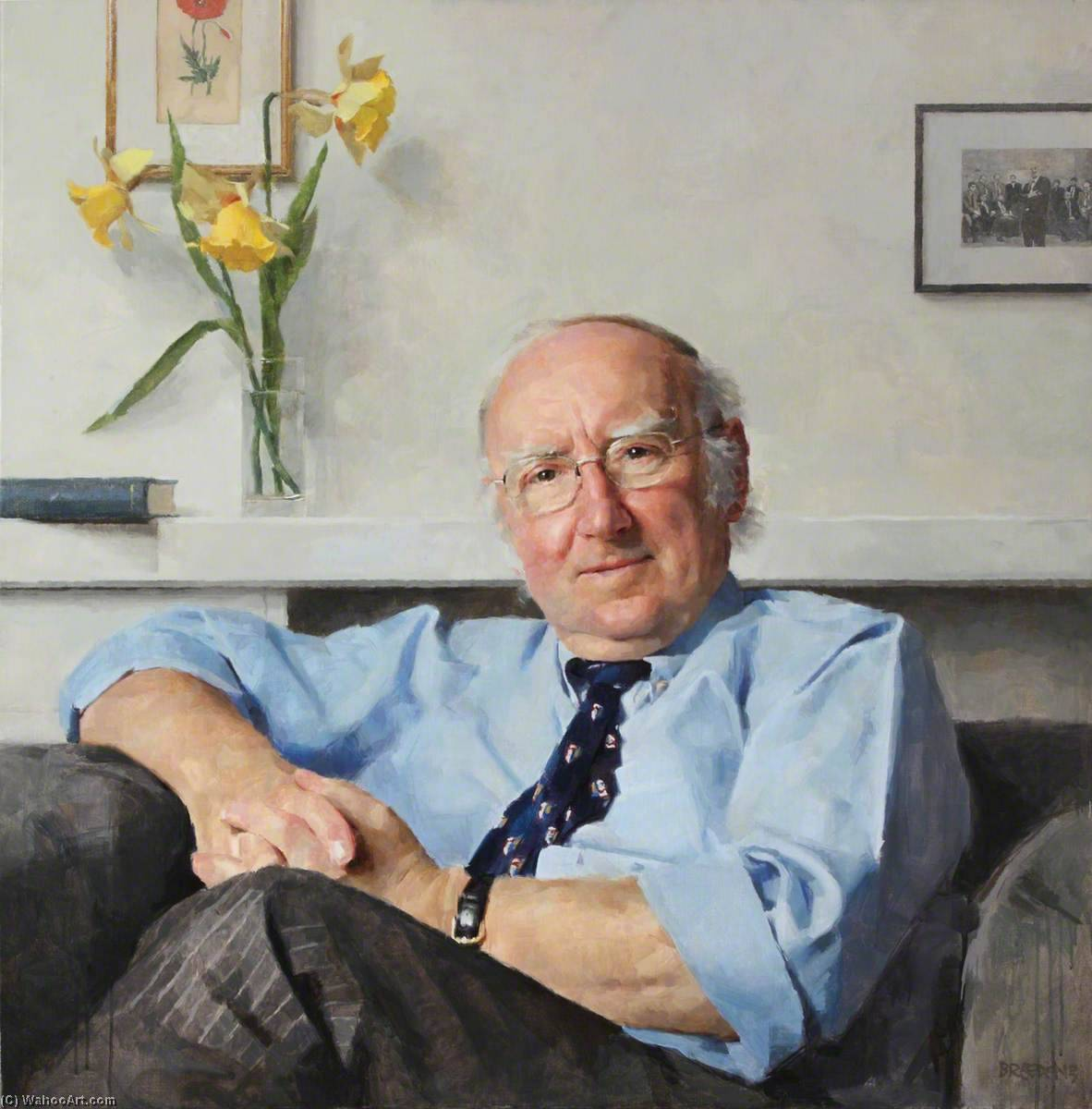 Geoffrey Thomas, First President of Kellogg College, Oil On Canvas by Keith Breeden
