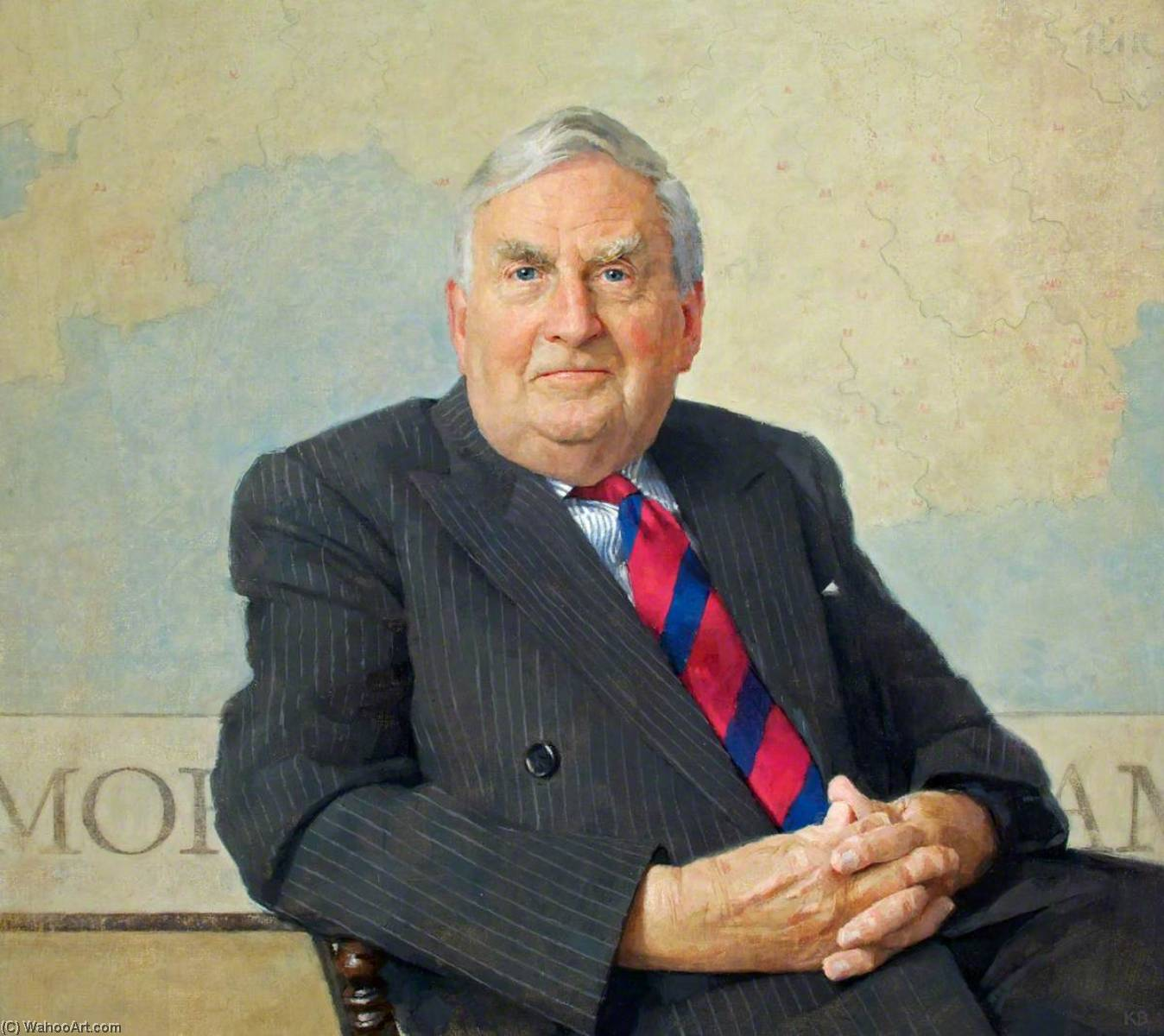 Lord Morris of Aberavon (b.1931), 2009 by Keith Breeden | Oil Painting | WahooArt.com