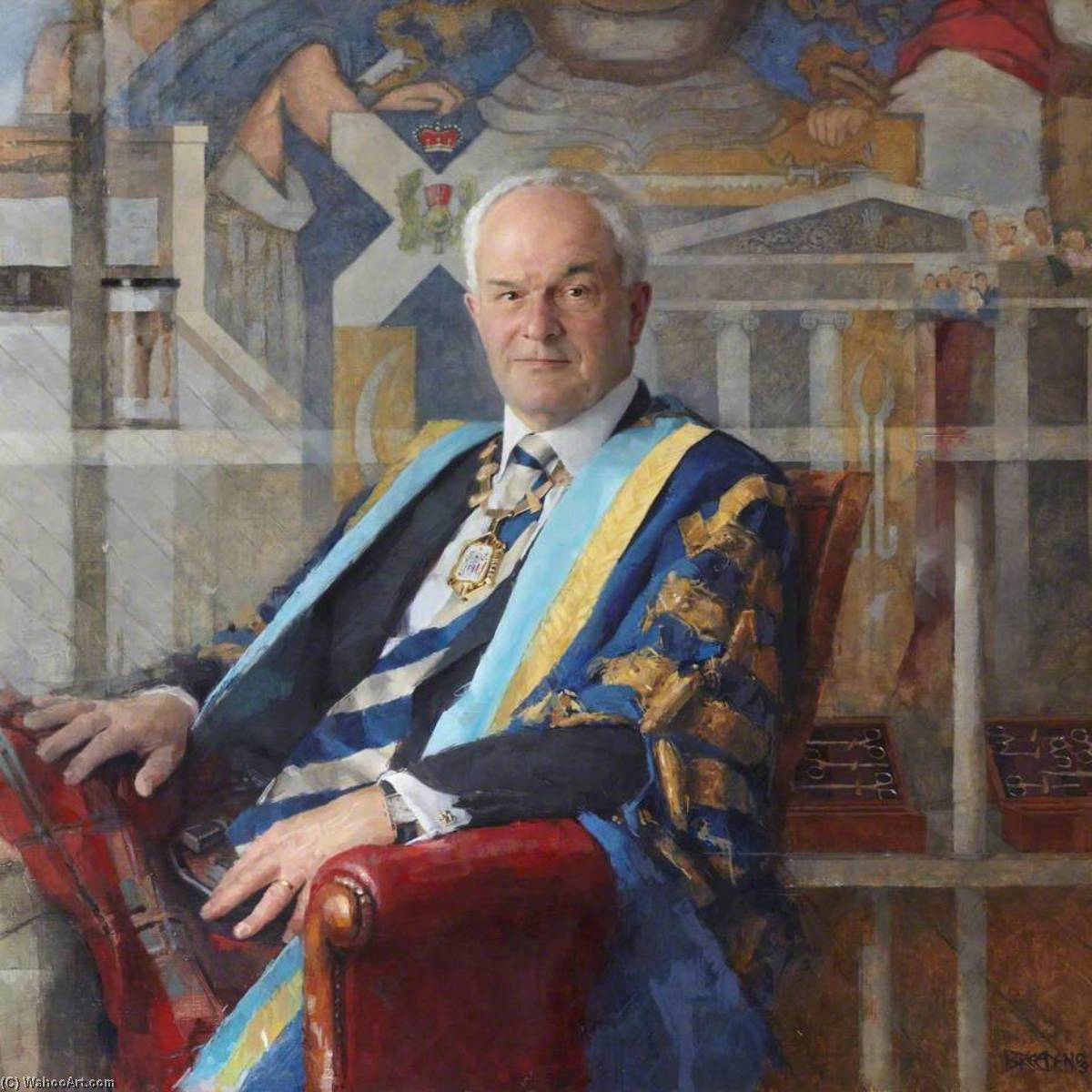 John Allan Raymond Smith, CBE, FRCSEd (1972), PRCSEd (2003–2006), Oil On Canvas by Keith Breeden