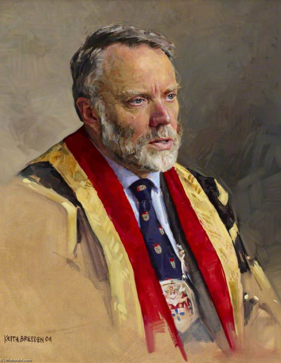 Professor Peter Hutton, President of the Royal College of Anaesthetists (2000–2003), Oil On Canvas by Keith Breeden