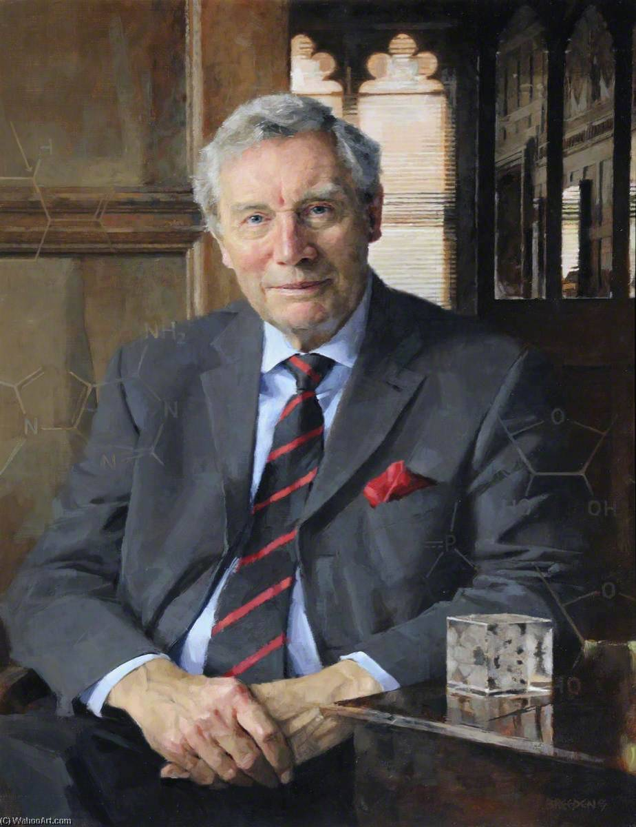 Professor Richard Perham, Master (2004–2007) by Keith Breeden | Oil Painting | WahooArt.com