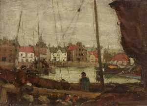 David Muirhead - The Harbour, Stonehaven