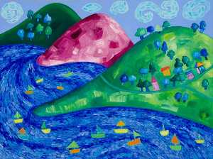 Wendy Mcarthur - Dream Valley (triptych, right panel)
