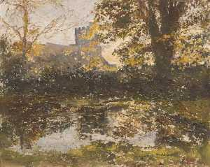 Lucy Marguerite Frobisher - Autumn View of St James' Church, Bushey