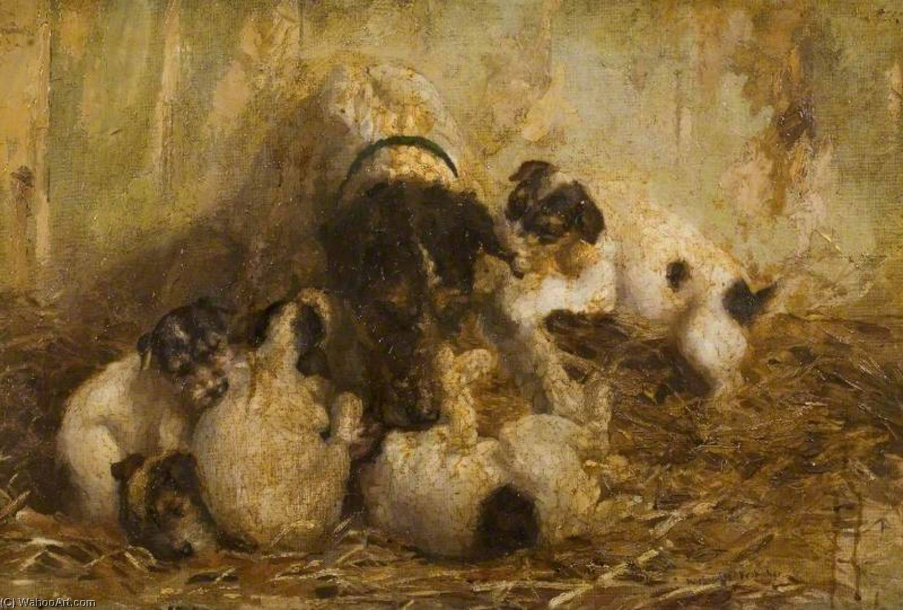 Family Gathering, Oil On Canvas by Lucy Marguerite Frobisher
