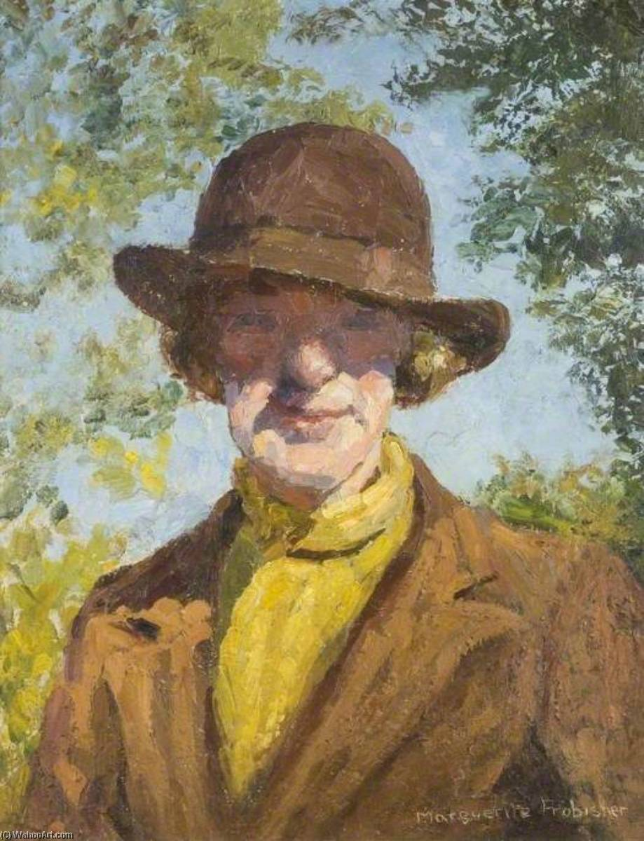 Hilda Cholmondeley (1901–1979) by Lucy Marguerite Frobisher | Famous Paintings Reproductions | WahooArt.com