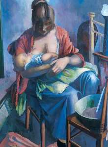 Bernard Meninsky - Mother and Child