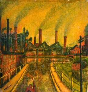 Charles William Brown - Industrial Scene