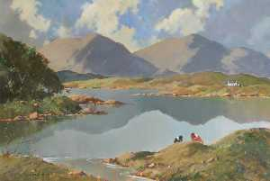 George K Gillespie - Lake and Mountains