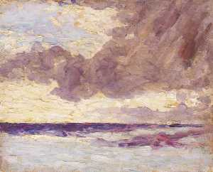 Winston Spencer Churchill - Seascape with Rain Clouds