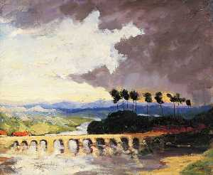 Winston Spencer Churchill - Storm Scene, South of France (The Bridge)