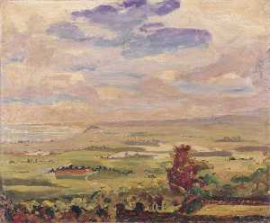Winston Spencer Churchill - View over Lympne Marshes, Kent