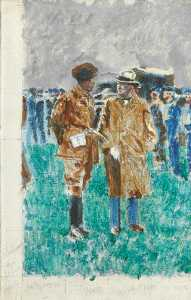 Winston Spencer Churchill - 'Painting Lesson from Mr Sickert'