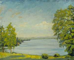 Winston Spencer Churchill - View of Lake Geneva, Switzerland (C.397)
