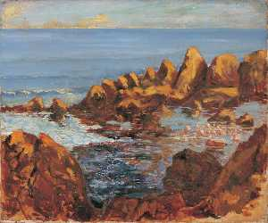 Winston Spencer Churchill - Rocks near Cannes