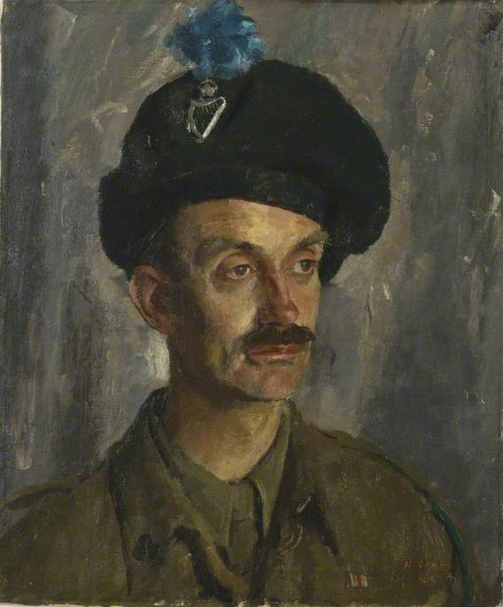 Major the Viscount Stopford, First Battalion, London Irish Rifles (Royal Ulster Rifles), 1944 by Henry Marvell Carr | Museum Quality Reproductions | WahooArt.com