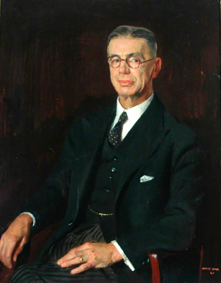 Sir William Cartwright, Chairman of the County Council of the West Riding of Yorkshire (1933–1946), Oil On Canvas by Henry Marvell Carr