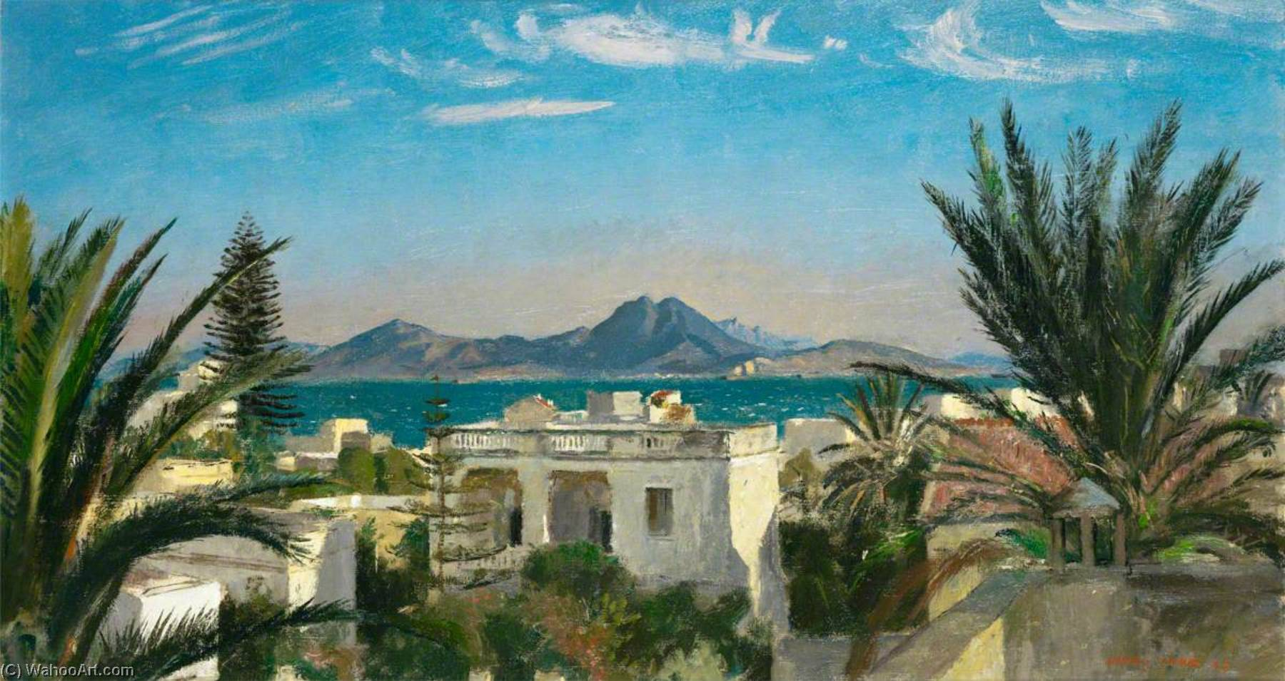 The Gulf of Carthage, Oil On Canvas by Henry Marvell Carr