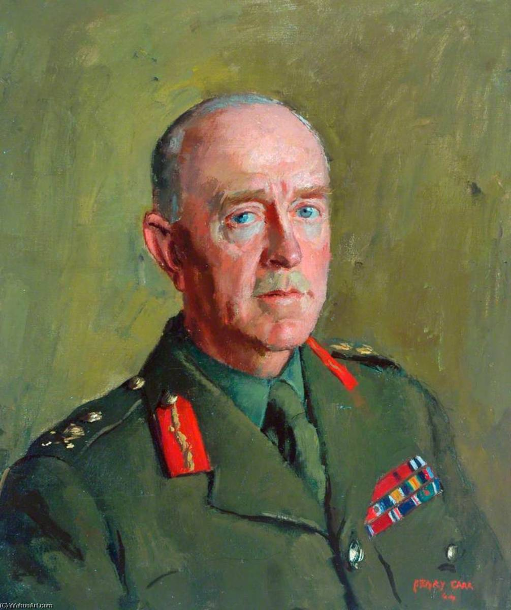 General Sir Harold Franklyn, KCB, DSO, MC, Colonel of the Regiment (1939–1949), Oil On Canvas by Henry Marvell Carr