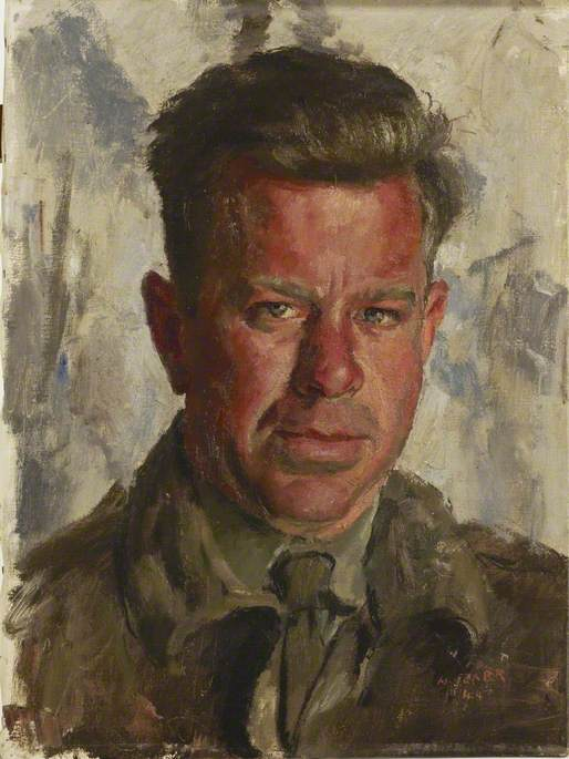 Lieutenant W. F. Smyth, Gunner Officer, Oil On Canvas by Henry Marvell Carr