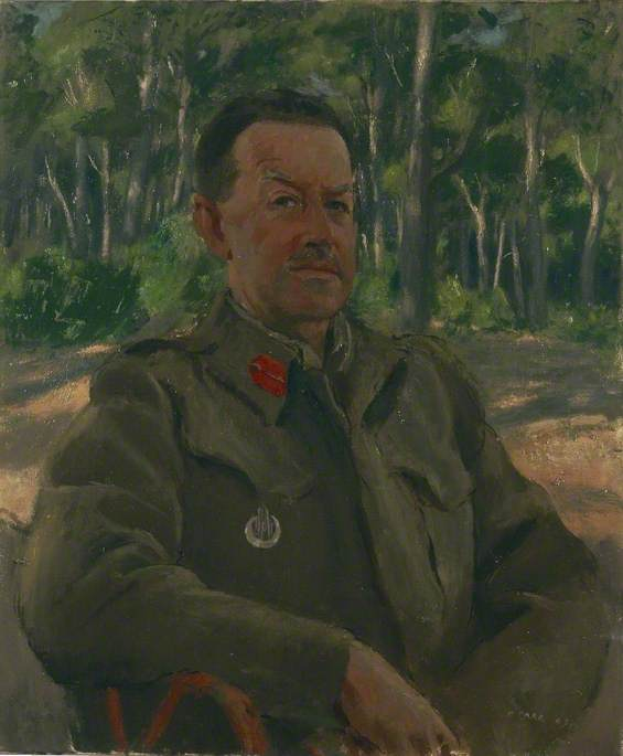 General the Honourable Sir Harold Alexander (1891–1969), GCB, CSI, DSO, Oil On Canvas by Henry Marvell Carr