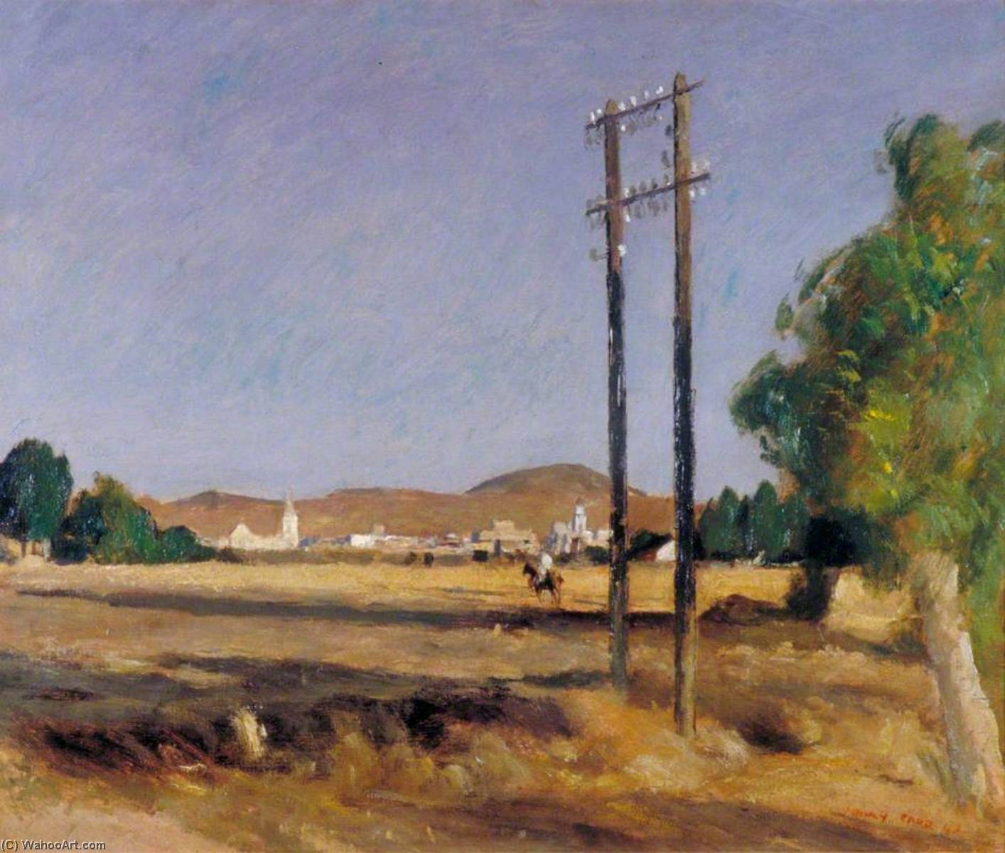 Medjez el Bab, Grenadier Hill in the Background, 1943 by Henry Marvell Carr | Museum Quality Reproductions | WahooArt.com