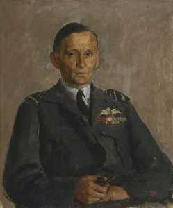 Order Famous Paintings Reproductions : Air Chief Marshal Sir Arthur Tedder (1890–1967), GCB, 1943 by Henry Marvell Carr | WahooArt.com