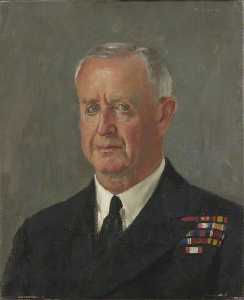 Admiral of the Fleet, Sir Andrew Cunningham  (order Fine Art painting copy Henry Marvell Carr)