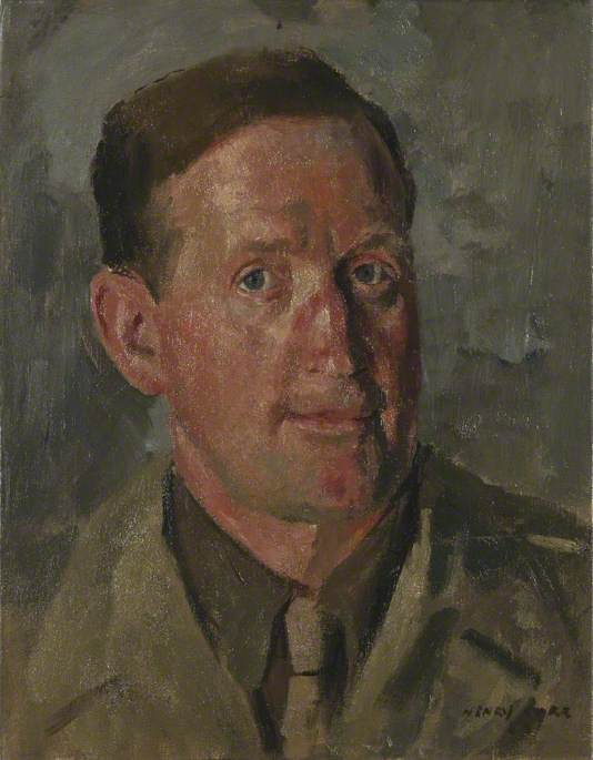 William E. Mundy, Daily Telegraph War Correspondent, 1943 by Henry Marvell Carr | WahooArt.com