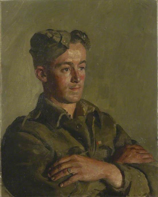 A Cockney Soldier, Oil On Canvas by Henry Marvell Carr
