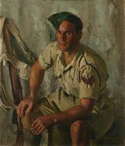 Henry Marvell Carr - Sergeant B. Montague One of the Desert Rats (7th Armoured Division)