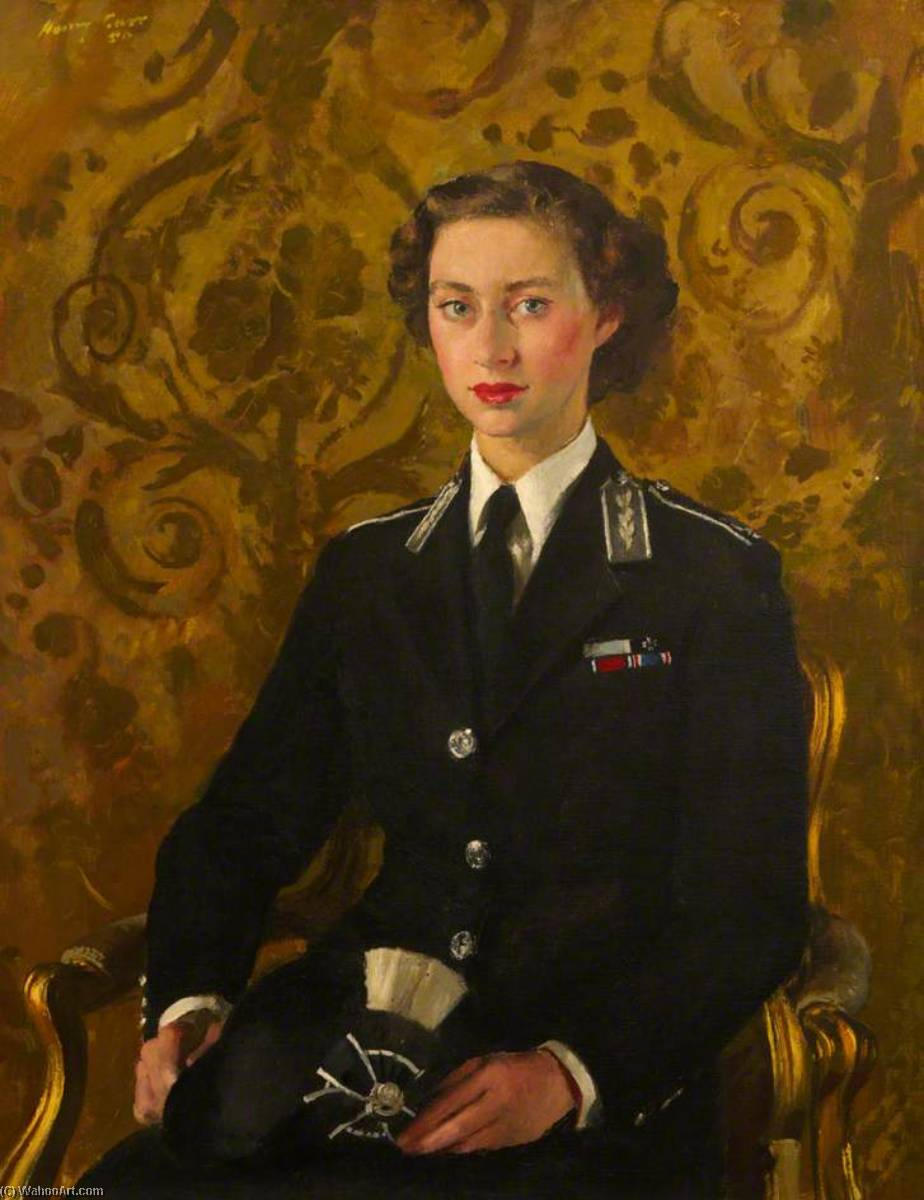 HRH Princess Margaret (1930–2002), Oil On Canvas by Henry Marvell Carr