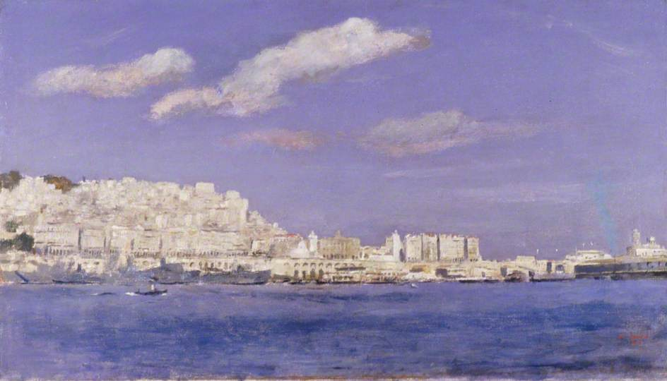 Waterfront, Algiers, 1943 by Henry Marvell Carr | Famous Paintings Reproductions | WahooArt.com