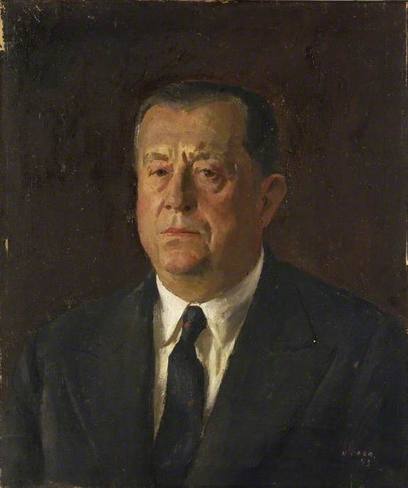 Marcel Peyrouton (1887–1983), Governor General, Algeria, 1943, Oil On Canvas by Henry Marvell Carr