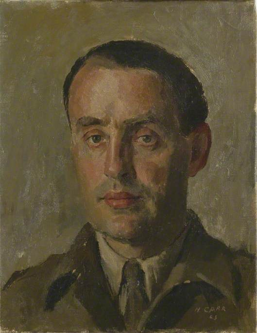 Howard Marshall, War Correspondent, British Broadcasting Corporation, 1943 by Henry Marvell Carr | Art Reproduction | WahooArt.com
