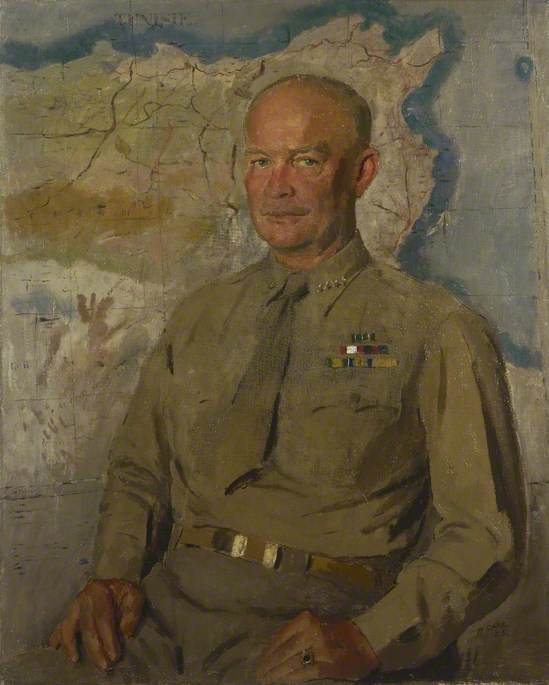 General Dwight D. Eisenhower (1890–1969), Oil On Canvas by Henry Marvell Carr