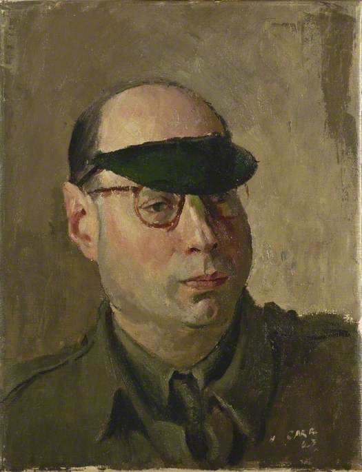 Arthur E. Mann, War Correspondent, Mutual Broadcasting Company of America, 1943 by Henry Marvell Carr | Painting Copy | WahooArt.com